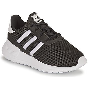 Schoenen Kinderen Lage sneakers adidas Originals LA TRAINER LITE EL I Zwart / Wit