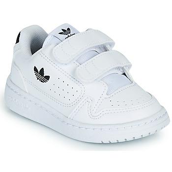 Schoenen Kinderen Lage sneakers adidas Originals NY 92 CF I Wit / Zwart