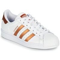 Schoenen Dames Lage sneakers adidas Originals SUPERSTAR W Wit / Brons