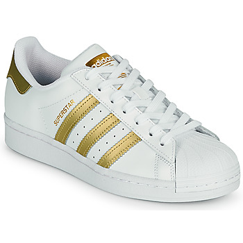 Schoenen Dames Lage sneakers adidas Originals SUPERSTAR W Wit / Goud