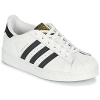 Schoenen Kinderen Lage sneakers adidas Originals SUPERSTAR C Wit / Zwart