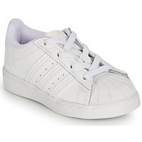 Schoenen Meisjes Lage sneakers adidas Originals SUPERSTAR EL I Wit / Regenboog