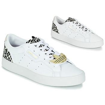 Schoenen Dames Lage sneakers adidas Originals adidas SLEEK W Wit / Luipaard