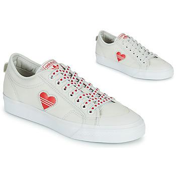 Schoenen Dames Lage sneakers adidas Originals NIZZA  TREFOIL W Wit / Rood