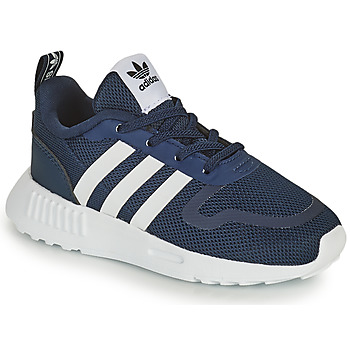 Schoenen Kinderen Lage sneakers adidas Originals SMOOTH RUNNER EL I Marine / Wit