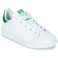 Schoenen Kinderen Lage sneakers adidas Originals STAN SMITH C SUSTAINABLE Wit / Groen