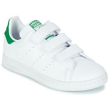 Schoenen Kinderen Lage sneakers adidas Originals STAN SMITH CF C SUSTAINABLE Wit / Groen / Vegan