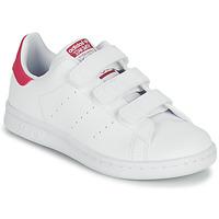 Schoenen Meisjes Lage sneakers adidas Originals STAN SMITH CF C SUSTAINABLE Wit / Roze