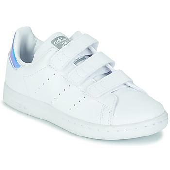 Schoenen Meisjes Lage sneakers adidas Originals STAN SMITH CF C SUSTAINABLE Wit / Regenboog
