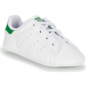Schoenen Kinderen Lage sneakers adidas Originals STAN SMITH CRIB SUSTAINABLE Wit / Groen