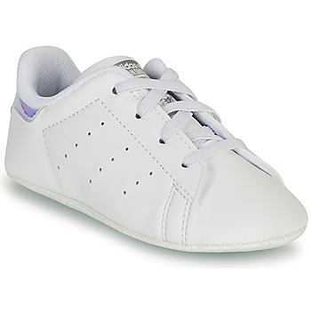 Schoenen Meisjes Lage sneakers adidas Originals STAN SMITH CRIB SUSTAINABLE Wit / Zilver