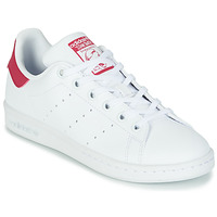 Schoenen Meisjes Lage sneakers adidas Originals STAN SMITH J SUSTAINABLE Wit / Roze