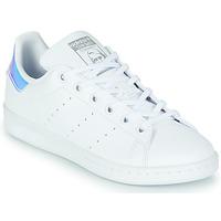 Schoenen Meisjes Lage sneakers adidas Originals STAN SMITH J SUSTAINABLE Wit / Regenboog