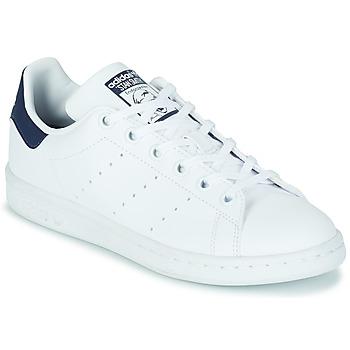 Schoenen Kinderen Lage sneakers adidas Originals STAN SMITH J SUSTAINABLE Wit / Marine / Vegan