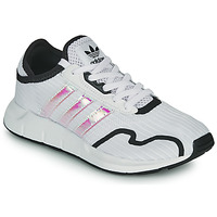 Schoenen Meisjes Lage sneakers adidas Originals SWIFT RUN X J Wit / Regenboog