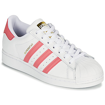 Schoenen Dames Lage sneakers adidas Originals SUPERSTAR W Wit / Roze
