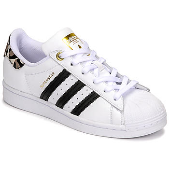 Schoenen Dames Lage sneakers adidas Originals SUPERSTAR W Wit / Luipaard