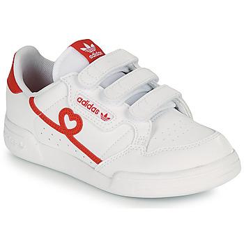 Schoenen Meisjes Lage sneakers adidas Originals CONTINENTAL 80 CF C Wit / Rood