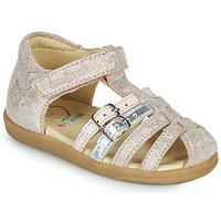 Schoenen Meisjes Sandalen / Open schoenen Shoo Pom PIKA SPART Beige / Zilver