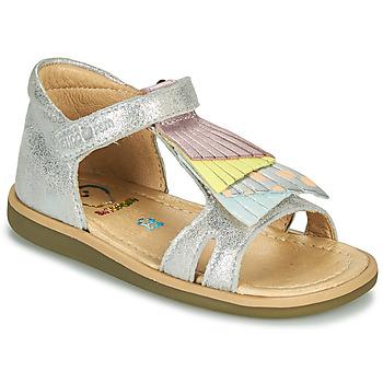 Schoenen Meisjes Sandalen / Open schoenen Shoo Pom TITY FALLS Zilver