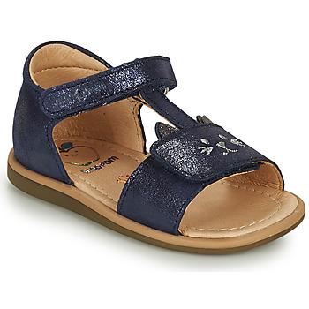 Schoenen Meisjes Sandalen / Open schoenen Shoo Pom TITY MIAOU Blauw