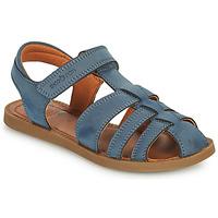 Schoenen Jongens Sandalen / Open schoenen Shoo Pom SOLAR TONTON Blauw