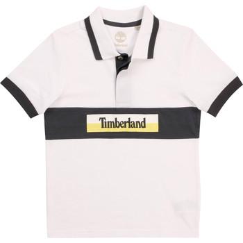 Textiel Jongens Polo's korte mouwen Timberland DOTTO Wit