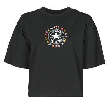 Textiel Dames T-shirts korte mouwen Converse CHUCK WOMENS WANDER TANK Zwart