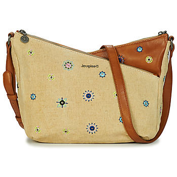 Tassen Dames Schoudertassen met riem Desigual BOLS_JULY DENIM HARRY MINI Beige