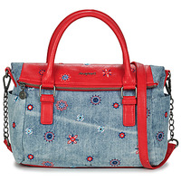 Tassen Dames Handtassen kort hengsel Desigual BOLS_JULY DENIM LOVERTY Karmijnrood