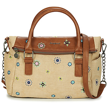 Tassen Dames Handtassen kort hengsel Desigual BOLS_JULY DENIM LOVERTY Beige