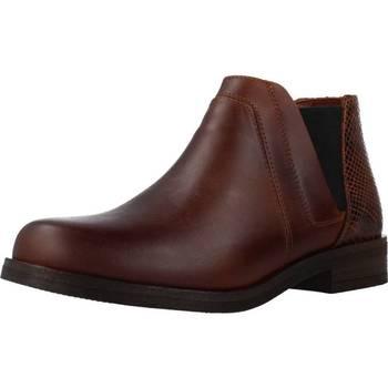 Schoenen Dames Laarzen Clarks DEMI2 BEAT Bruin