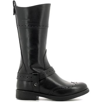 Schoenen Kinderen Hoge laarzen Geox J6449B 00043 Zwart