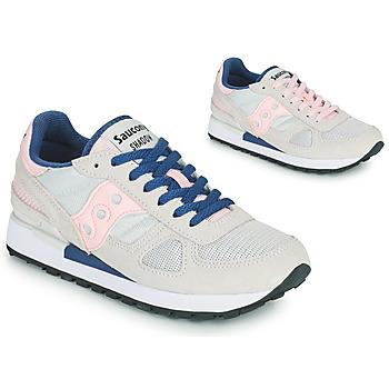 Schoenen Dames Lage sneakers Saucony SHADOW ORIGINAL Grijs / Roze / Blauw