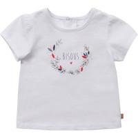 Textiel Meisjes T-shirts korte mouwen Carrément Beau Y95270-10B Wit