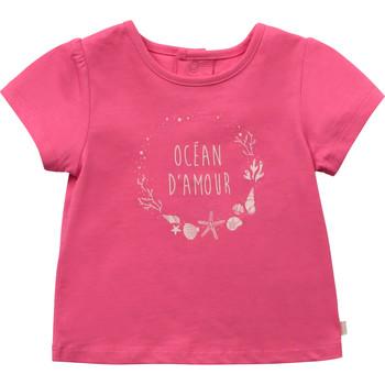 Textiel Meisjes T-shirts korte mouwen Carrément Beau Y95270-46C Roze