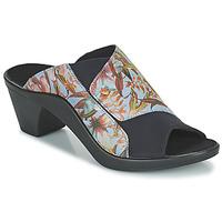 Schoenen Dames Leren slippers Romika Westland ST TROPEZ 244 Blauw / Multicolour