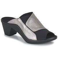 Schoenen Dames Leren slippers Romika Westland ST TROPEZ 244 Zwart / Goud