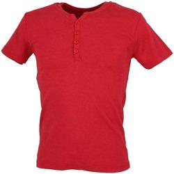 Textiel Heren T-shirts korte mouwen La Maison Blaggio  Rood