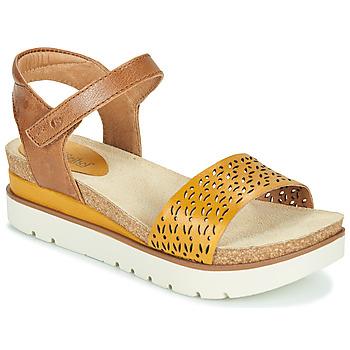 Schoenen Dames Sandalen / Open schoenen Josef Seibel CLEA 09 Bruin / Geel