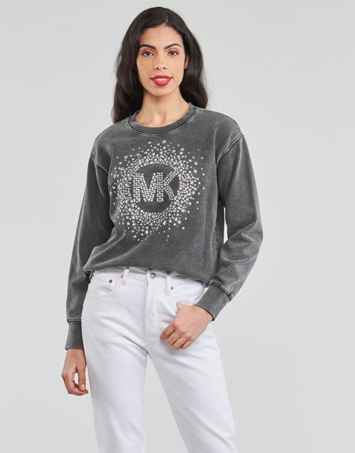 Textiel Dames Sweaters / Sweatshirts MICHAEL Michael Kors ACID WSH MK STAR STUD Zwart