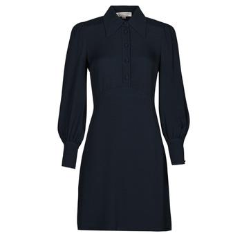 Textiel Dames Korte jurken MICHAEL Michael Kors VI SATIN MINI DRESS Marine