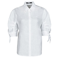Textiel Dames Overhemden Karl Lagerfeld LINENSHIRTW/BOWS Wit