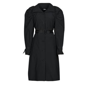 Textiel Dames Trenchcoats Karl Lagerfeld DRAPEDTRENCHCOAT Zwart