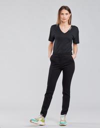 Textiel Dames 5 zakken broeken Karl Lagerfeld SUMMERPUNTOPANTS Zwart