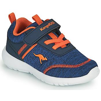 Schoenen Jongens Lage sneakers Kangaroos KY-CHUMMY EV Blauw / Oranje
