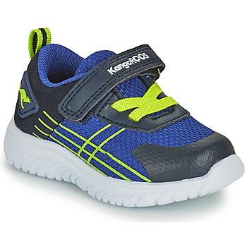 Schoenen Jongens Lage sneakers Kangaroos KI-TWEE EV Blauw / Groen
