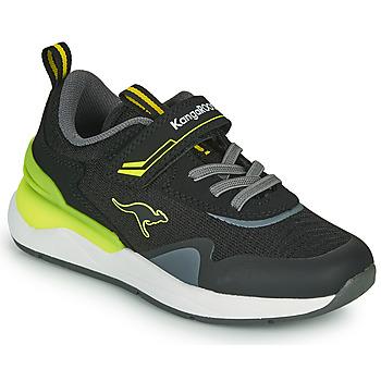 Schoenen Jongens Lage sneakers Kangaroos KD-GYM EV Zwart / Geel