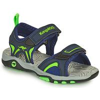 Schoenen Jongens Sandalen / Open schoenen Kangaroos K-MONT Blauw / Groen