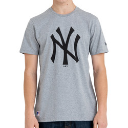 Textiel Heren T-shirts korte mouwen New-Era New York Yankees Team Logo Tee Grau